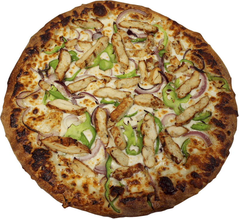 Chicken deluxe pizza menu