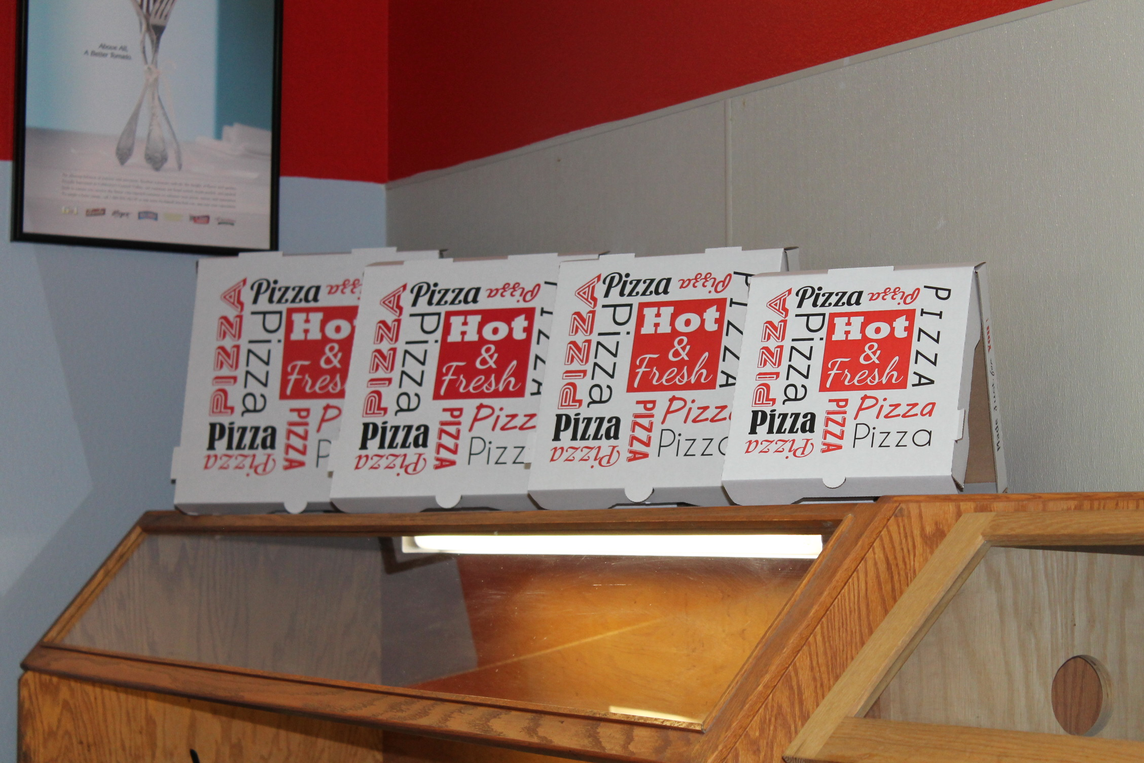 Pizza Plus in Escalon's pizza in four sizes
